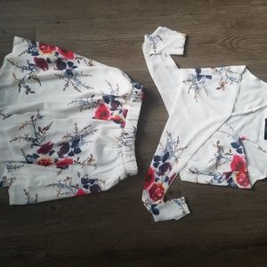 Two piece romper outfit